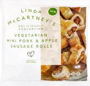 Linda McCartney Vegetarian Mini Pork & Apple Sausage Rolls (342g)