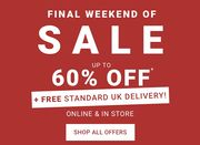 WEEKEND TREAT: Free Delivery + up to 60% off Sale!