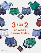 3 for 2 on Mens Crown Jewels