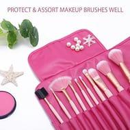 DIOLAN 10 Pcs Premium Gold Pink Spectrum Makeup Brushes Set