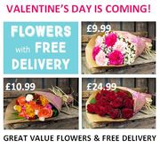 FROM £9.99 DELIVERED! Get Your Valentine's Day Flowers Order In!