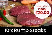 Lean Rump Steaks 10 X 170g/6oz Just £20.00