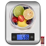 Kitchen Scales, CUSIBOX 22Ib/10kg Stainless Steel Food Scales, Digital Kitchen