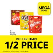 Maltesers or M&M Pouches for Only £1