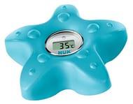 NUK 10256379 Digital Bath Thermometer, for Measuring Water Temperature, Petrol
