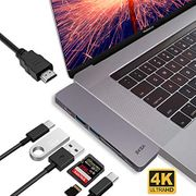 USB C Hub Adapter, Upgraded Aluminum 7 in 1 Type C Hub