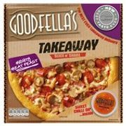 Goodfellas Takeaway Mighty Meat Feast Pizza & Sweet Chilli Dip 596g
