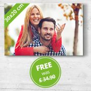 Get a 30x20cm Canvas 69%off@ My-Picture