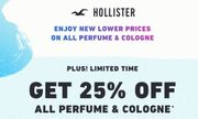 All Perfume & Cologne 25% Off
