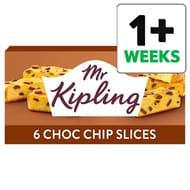 Mr Kipling Chocolate Chip Cake Slices 6 Pack - Save 37%
