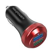 RAVPower Quick Car Charger 3.0 40W 3A Dual Car Adapter Fast Charger - 35% Off
