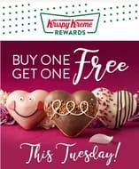 Krispy Kreme Valentines Day Donuts Buy One Get One Free 5th Feb