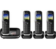 PANASONIC Cordless Phone with Answering Machine - Quad Handsets