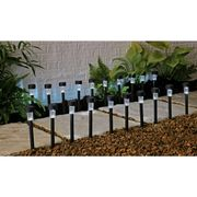 Argos Home Set of 20 LED Solar Lights - Black
