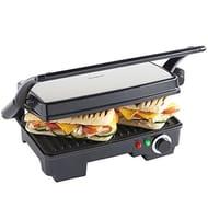 VonShef 2-in-1 Panini Press and Grill | 2 Slice Sandwich Press