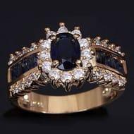 Blue Zircon Rings for Women Fashion