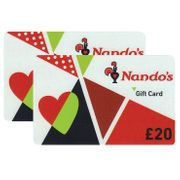 £40 Nando's Gift Cards Multipack (2 X £20)