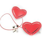 Valentine Deco Metal Heart with Suction Hanging Photo Clips Hanging Album Clip