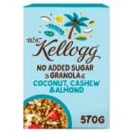W.K. Kellogg Coconut, Cashew & Almond, No Added Sugar Granola 570g