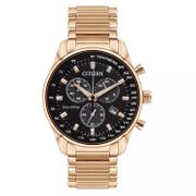 *HALF PRICE* Citizen Men's Eco-Drive Rose Gold Tone Bracelet Watch