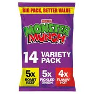 Monster Munch, Quavers, Wotsits , French Fries 14pk