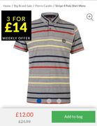 Pierre Cardin Polo Shirt Men (3 for £14 Mix and Match)