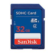 100% Genuine SanDisk 32GB Class 4 UHS-I SD SDHC Memory Card - Save £1!
