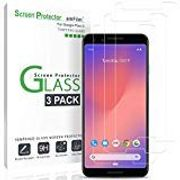 Pixel 3 Screen Protector Glass, amFilm Case Friendly