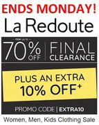 La Redoute FINAL CLEARANCE - 70% off + EXTRA 10% off with CODE