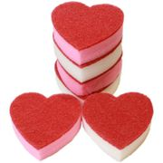 6x Heart Shaped Washing up Sponges, for the Love of the Kitchen Sink