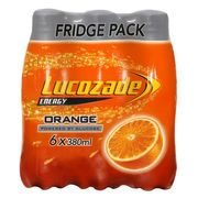 Lucozade 6 X 380ml Various Flavours