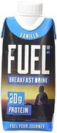 FUEL10K 330ml Vanilla Breakfast Milk Drink - Pack of 8 - High Protein Milkshake
