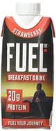 FUEL10K 330ml Strawberry Breakfast Milk Drink - Pack of 8 - Milkshake