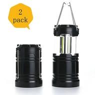 2 Pcs Camping Lantern Light Collapsible