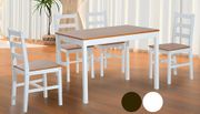 5-Piece Pine Wood Dining Set - 2 Colours