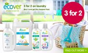 Get 3 for 2 on Ecover Laundry (Cheapest Item Free)