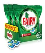 Fairy Original All-in-One Dishwasher Tablets, (84 Pack X 3) 252 Tablets
