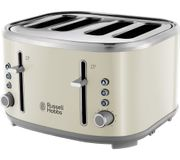 RUSSELL HOBBS Bubble 4-Slice Toaster - Cream/Green/Pink