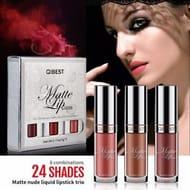 New 3Pcs/Set Makeup Waterproof Matte Nude Liquid Lipstick Long Lasting Lip Gloss