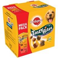 Pedigree Mega Pack : 5X Tasty Bites Chicken / Beef Now £1 at B&M