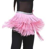 Three Layered Solid Tassel Lace-up Dance Belt Dresses