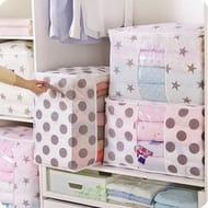 Foldable Storage Bag Clothes Blanket Quilt Closet Sweater Organizer Box