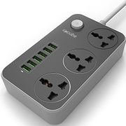 iBlockCube - Extension Lead with USB Ports 3 Way Outlets 6 Ports