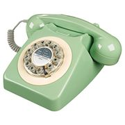 Wild and Wolf Green Retro Telephone.