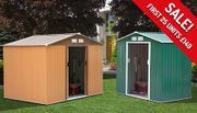 Metal Garden Shed - 2 Sizes Only £149