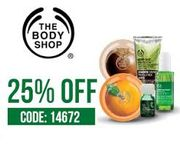 25% off Selected Beauty Products with Code at the Body Shop