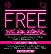 BONDARA FREE next Day Delivery When You Spend £30 Order before 5.30PM Today!