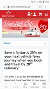 25% off Vehicle Ferry Travel