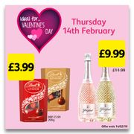 Valentine's Deals, Lindt Chocolates & Prosecco!