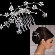 Bridal Starry Rhinestone Hair Comb Tiara